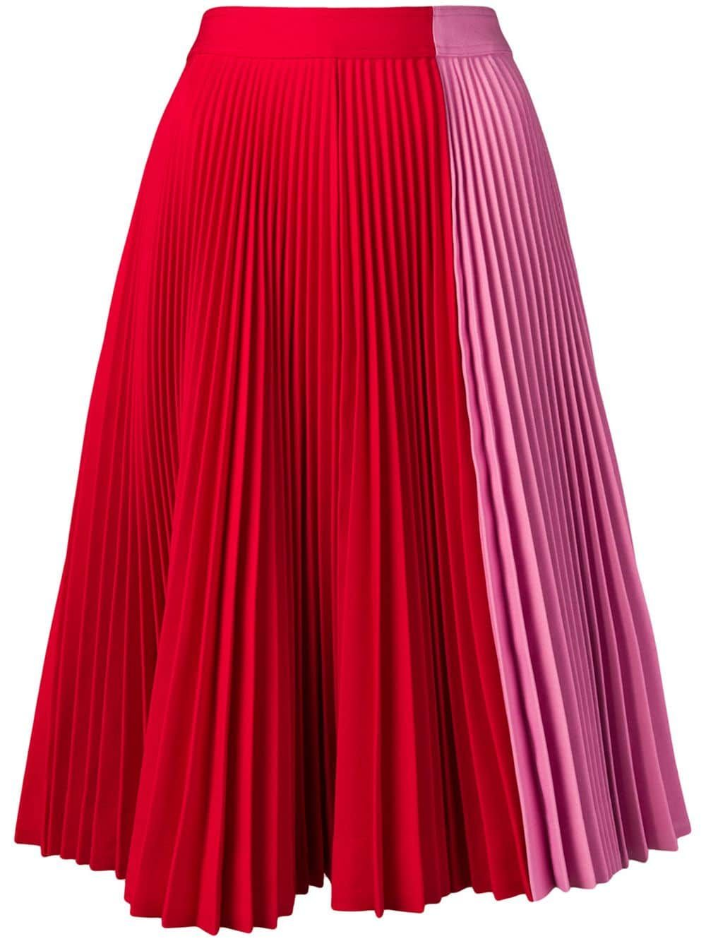 a05cd72531 CHILI RED Pleated Long Maxi Skirts | Skirts | Long maxi skirts, Skirts, Red  skirts
