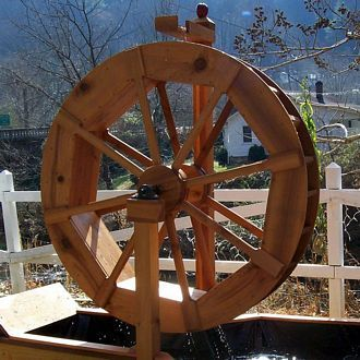 Buy Water Wheel Plans Far Out Garden Ideas Water How To Plan Pond