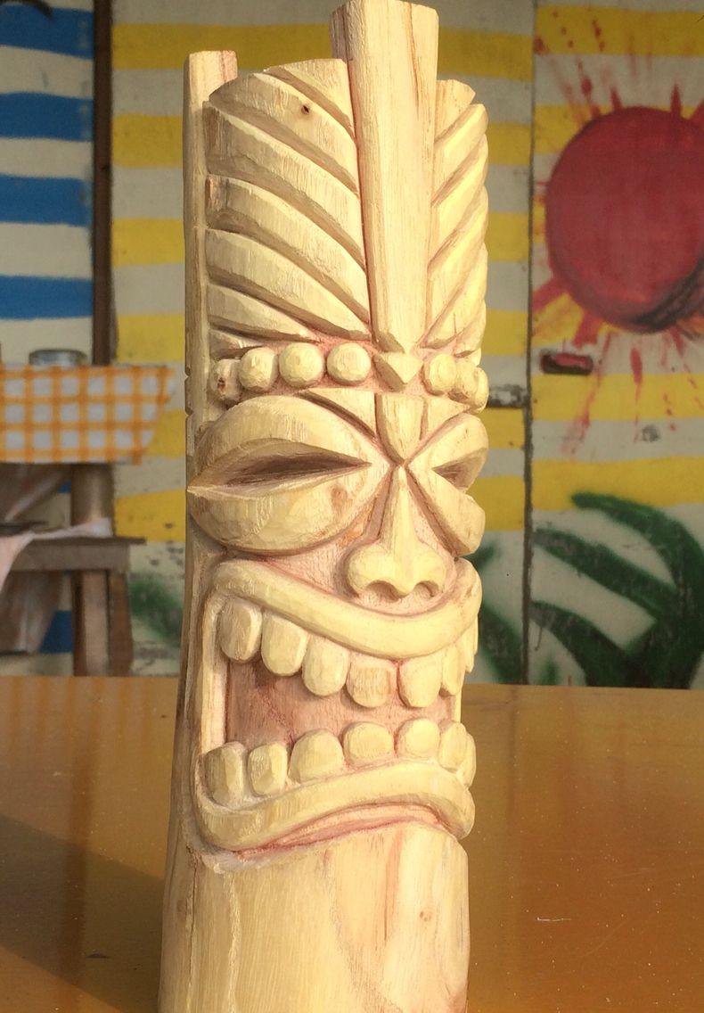 My Tiki Artesanato Reciclado Escultura Em Madeira Artesanato E Faca Voce Mesmo