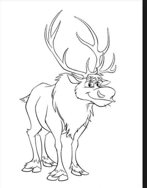 Sven Coloring Page Preschool Projects Pinterest Coloring - Frozen-sven-coloring-pages