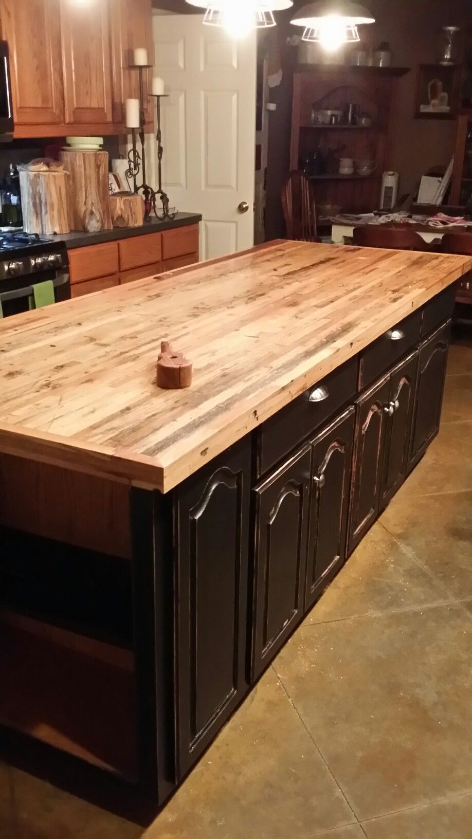 Island top made from boxcar oak wood rustic ideas pinterest