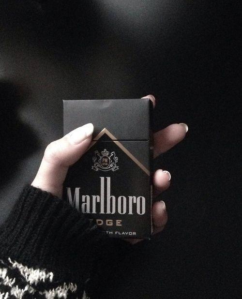 marlboro, black, and cigarette image | Smoke | Black ...