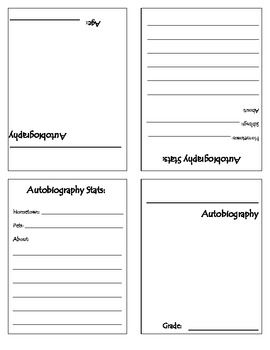 Autobiography Trading Cards Template Lesson And Scoring Guide