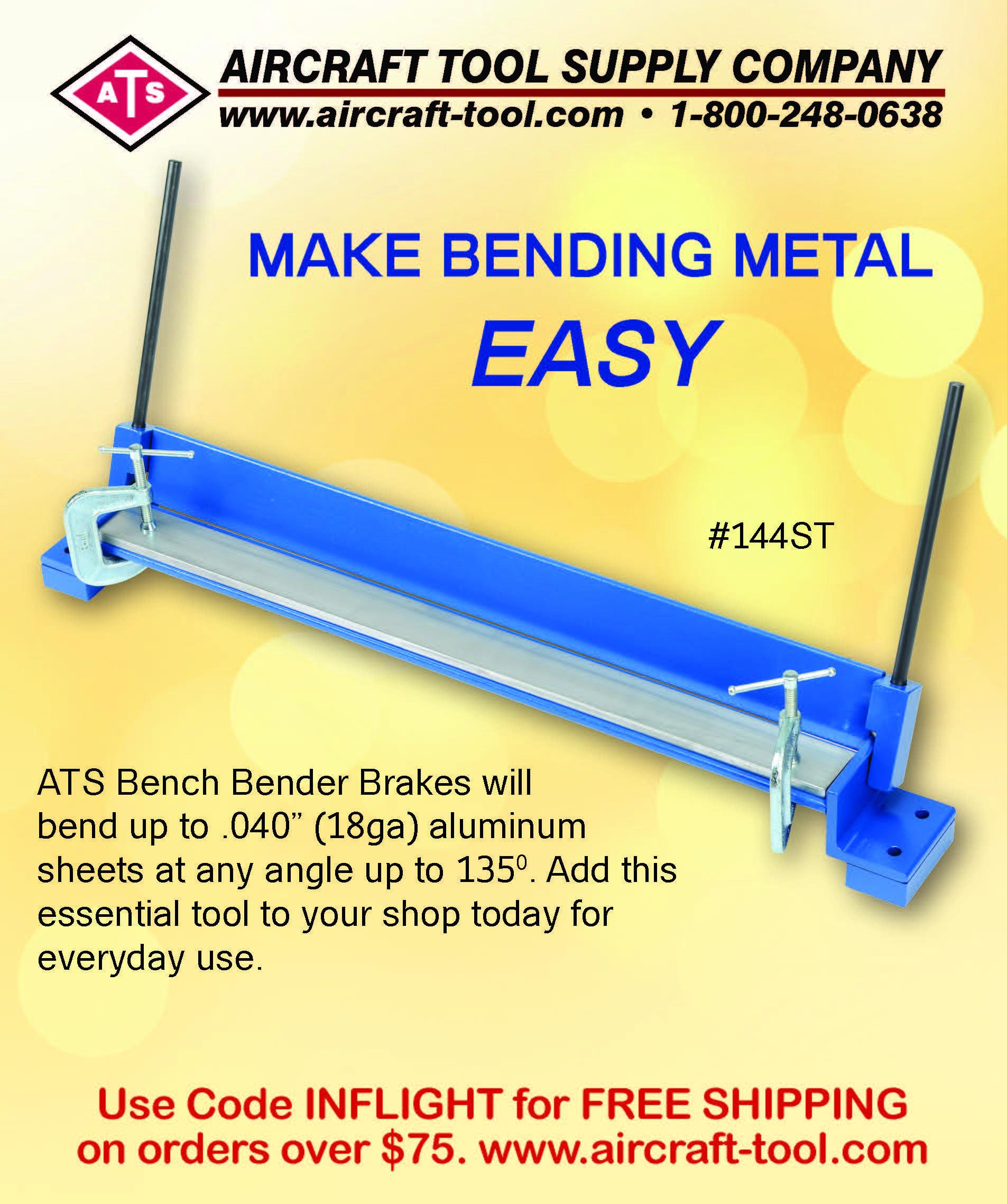 Ats Bench Bender Brake Bends Sheet Metal Www Aircraft Tool Com 1 800 248 0638 Inflight Usa Magazine Tools Tool Supply Aluminum Sheets