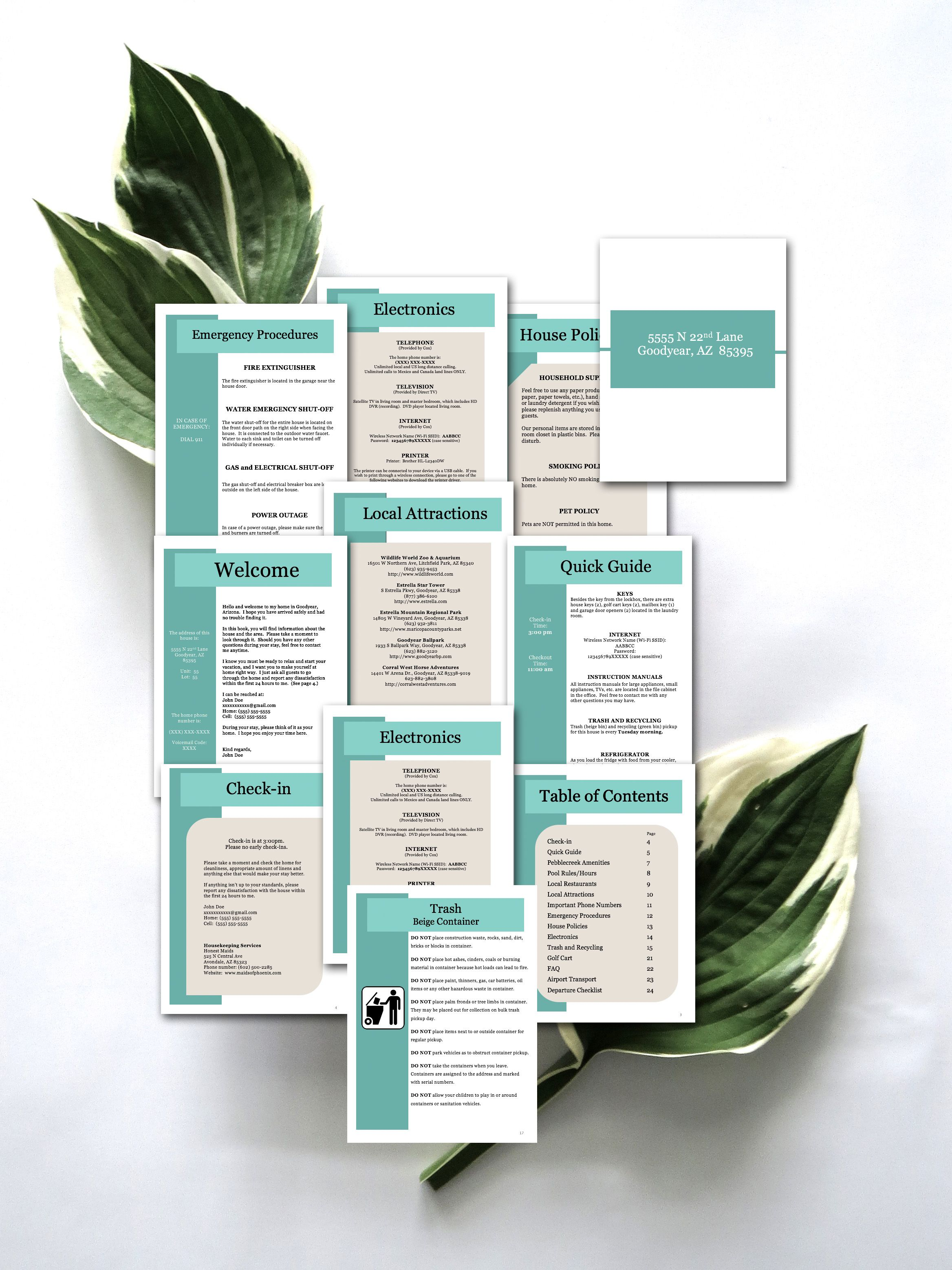 Ultimate Vacation Rental Welcome Book Template 20 Pages Etsy Airbnb House Vacation Rental Rental