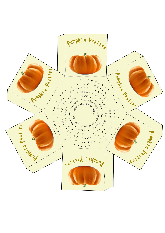 Pumpkin Pasties Boxes By Printablepartiesirl On Etsy