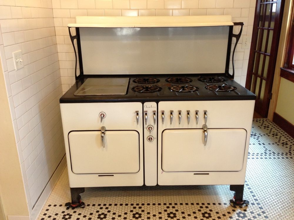 rare massive antique Chambers Imperial gas stove 6 burner dual oven model  7960 A #Chambers