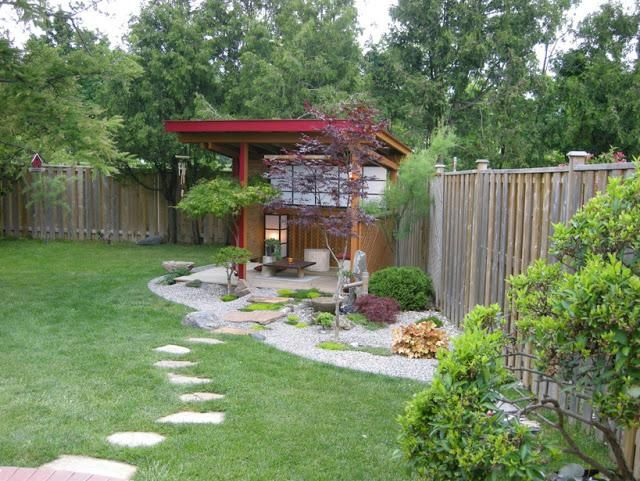 Outdoor meditation area