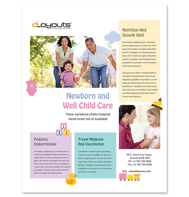 Child Care Specialists Flyer Template http://www.dlayouts.com ...