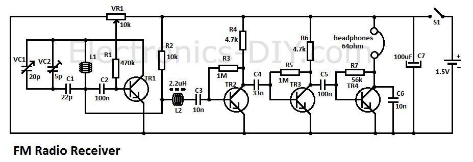 circuit zone schematics for projects wizzbangz fm radio receivercircuit zone schematics for projects electronic schematics, electronic kits, fm radio receiver,