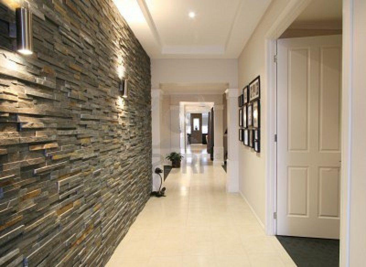 paredes decoradas com pedras