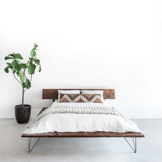 Recuperado marco de cama de plataforma madera | Decoración II ...