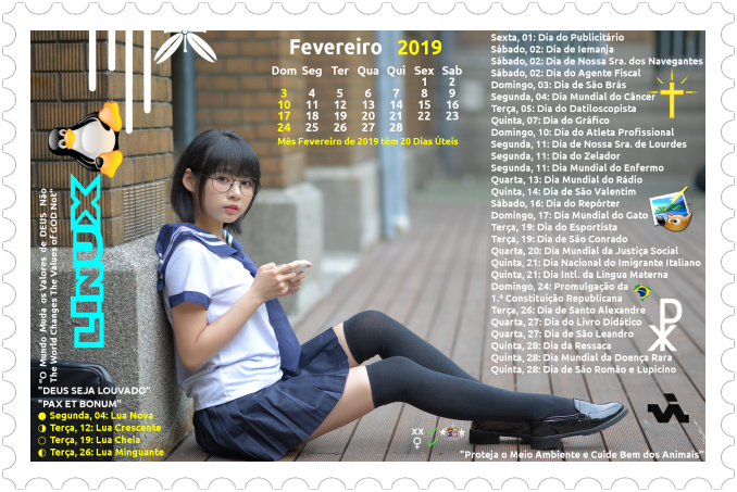 Tin Yu Selo Horiz Calendario 2019 Fevereiro Photo Promo