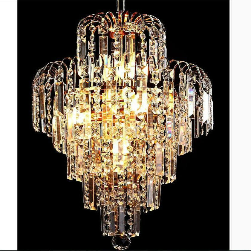 Modern K9 Crystal Chandelier Golden Stair Led Pendant Lamp Luster Crystal Stair Hotel Restaurant Dining Room Lamp 85v 260v Yester Crystal Chandelier Lighting Chandelier Lighting Crystal Pendant Lighting