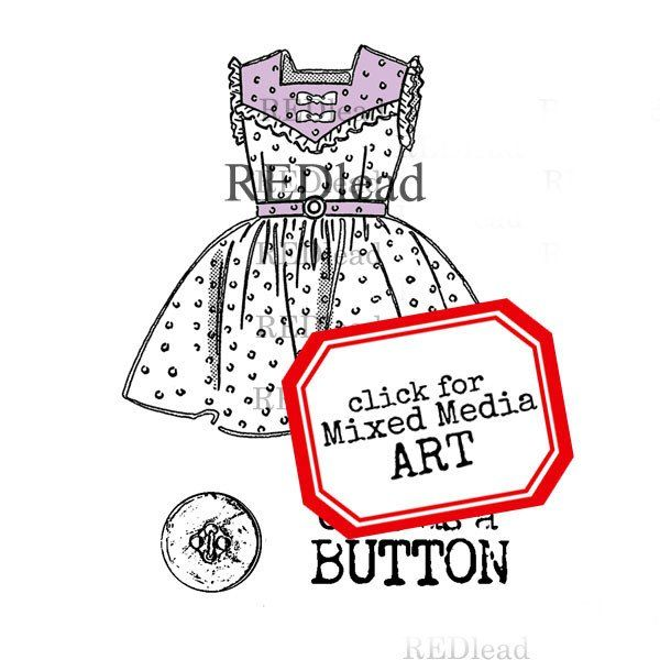 Rubber Stamp - Cute as a Button - 3 cling mount stamps