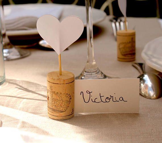 Porte Nom Coeur Original Bouchon De Liege Beautiful Table Place Card Holders Wedding