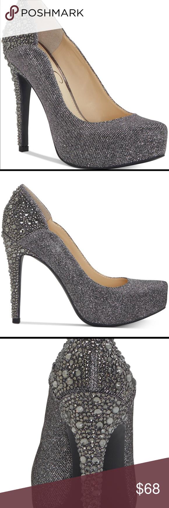 76e0c8264f1 Jessica Simpson Pehyton Platform Pumps Shimmering rhinestones cascade down  the sleek stiletto heel of Jessica Simpson s