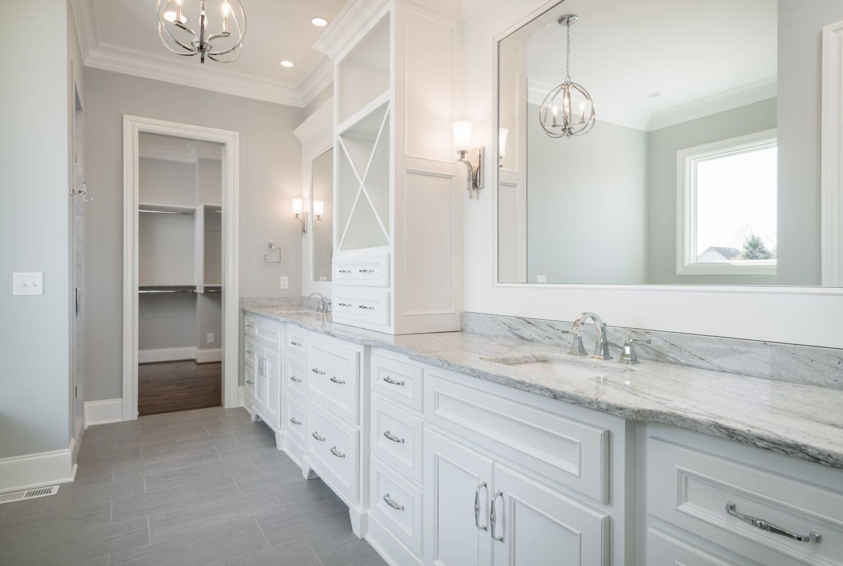 The absolute PERFECT master bathroom!! In love with the white custom ...