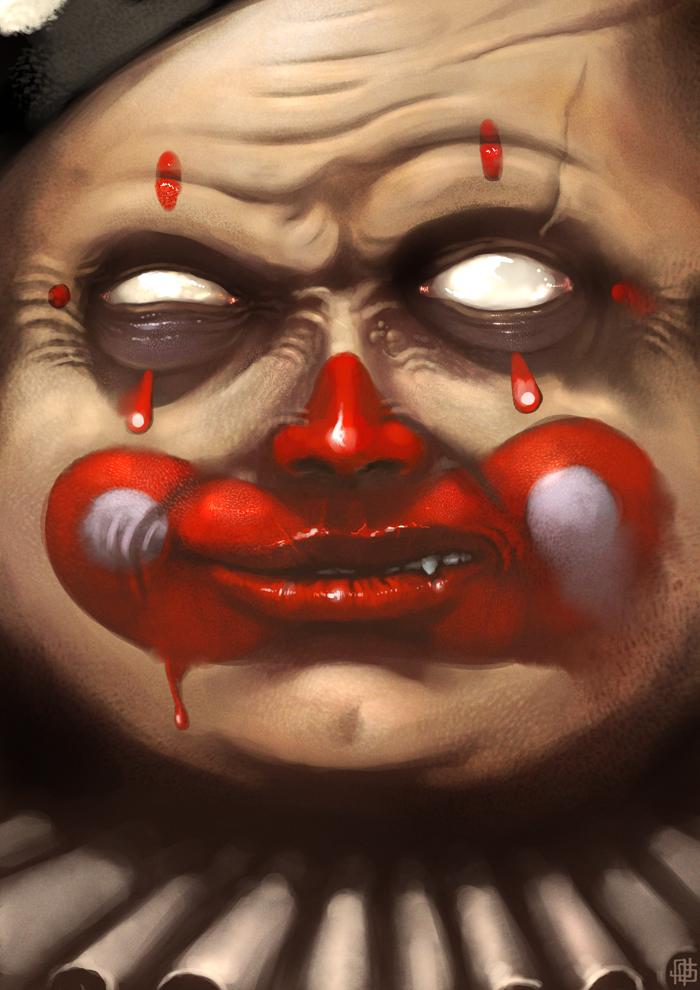 Evil Smile By Joelamatguell On Deviantart Evil Smile Scary Clowns Evil Clowns
