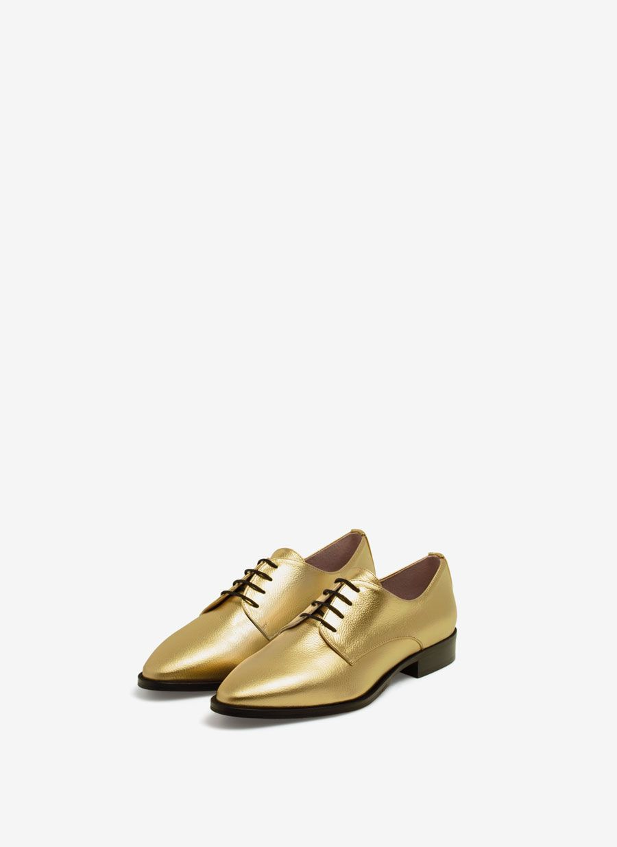 Uterqüe España Product Page - Calzado - Zapatos planos - Blucher metalizado - 89