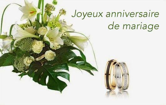 Joyeux Anniversaire De Mariage Happy Birthday Carte