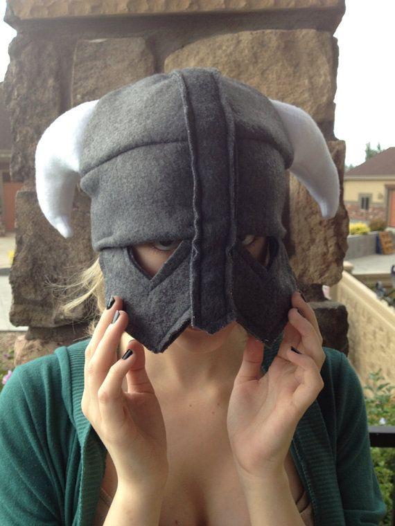 Fleece Viking Helmet Hat Handmade | Fleece hats, Skyrim and Viking ...