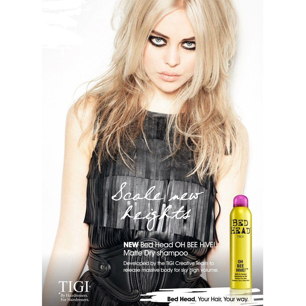 A little bit of 60s remaining in a shiny can with the new Oh Bee Hive! Matte Dry Shampoo by Tigi.
