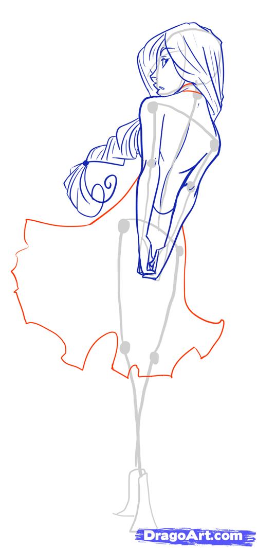 how to draw female figures draw female bodies step 17