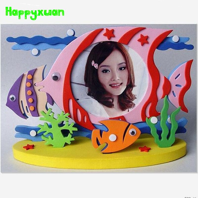 Happyxuan 4pcs/lot Kids DIY EVA Foam Stickers Crafts Kit Photo Frame ...