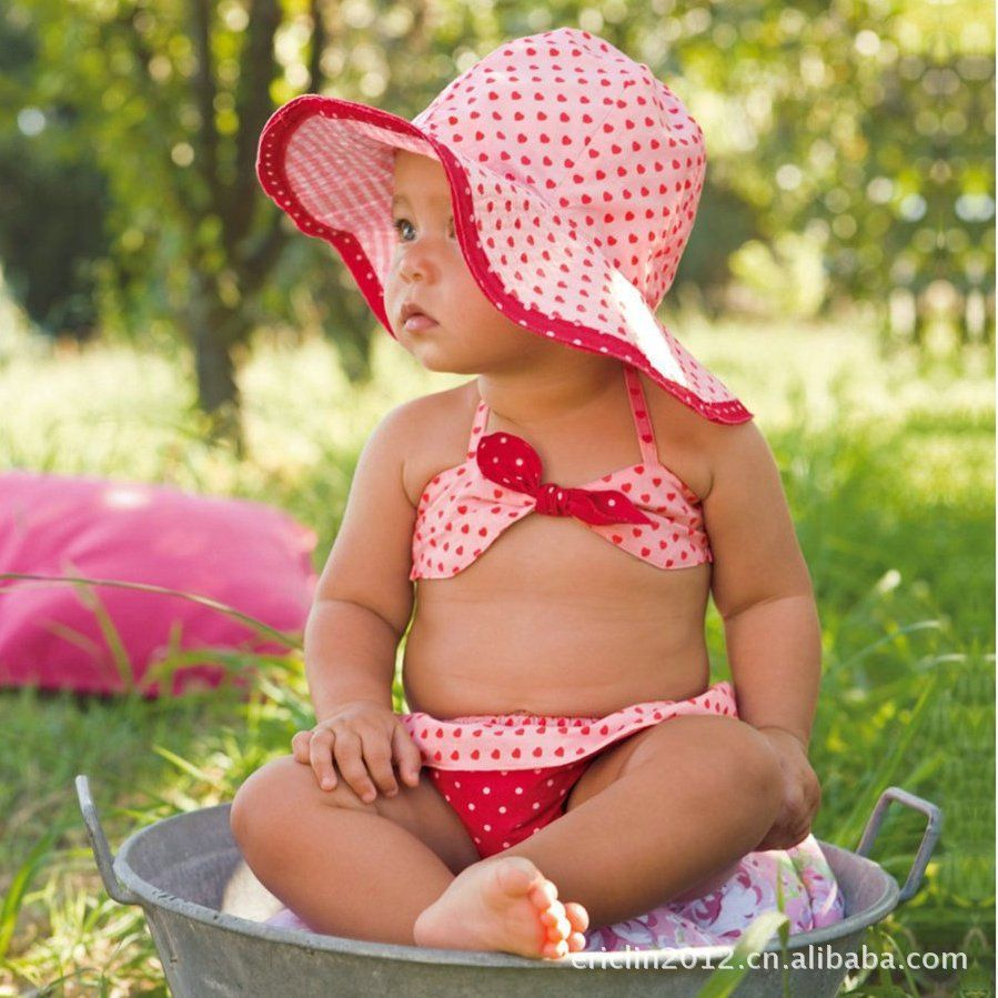492b190ca3 beach baby clothing | New baby beach clothes baby girl Bikini Sets 3-piece kids  beach wear .