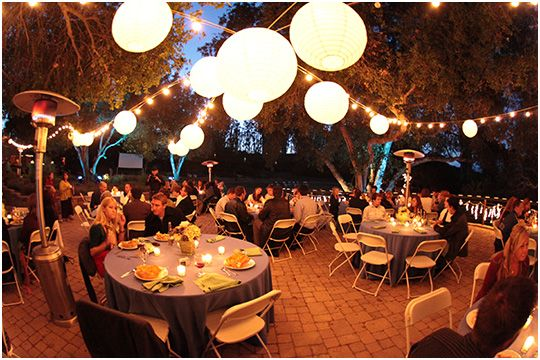 Outdoor wedding reception lighting of your venue with the help outdoor lighting for reception paper lanterns mozeypictures Image collections