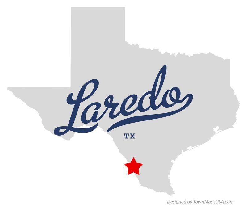 Map Of Texas Showing Laredo.Map Of Laredo Texas Tx In 2019 Laredo Texas Visit Texas