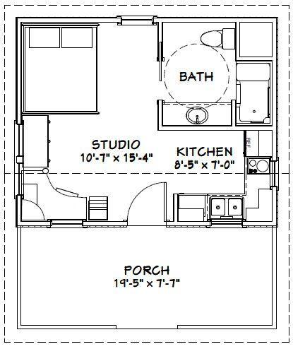 20x16 House 20x16h14 311 Sq Ft Excellent Floor Plans Tiny House Floor Plans Cottage Floor Plans Cabin Floor Plans
