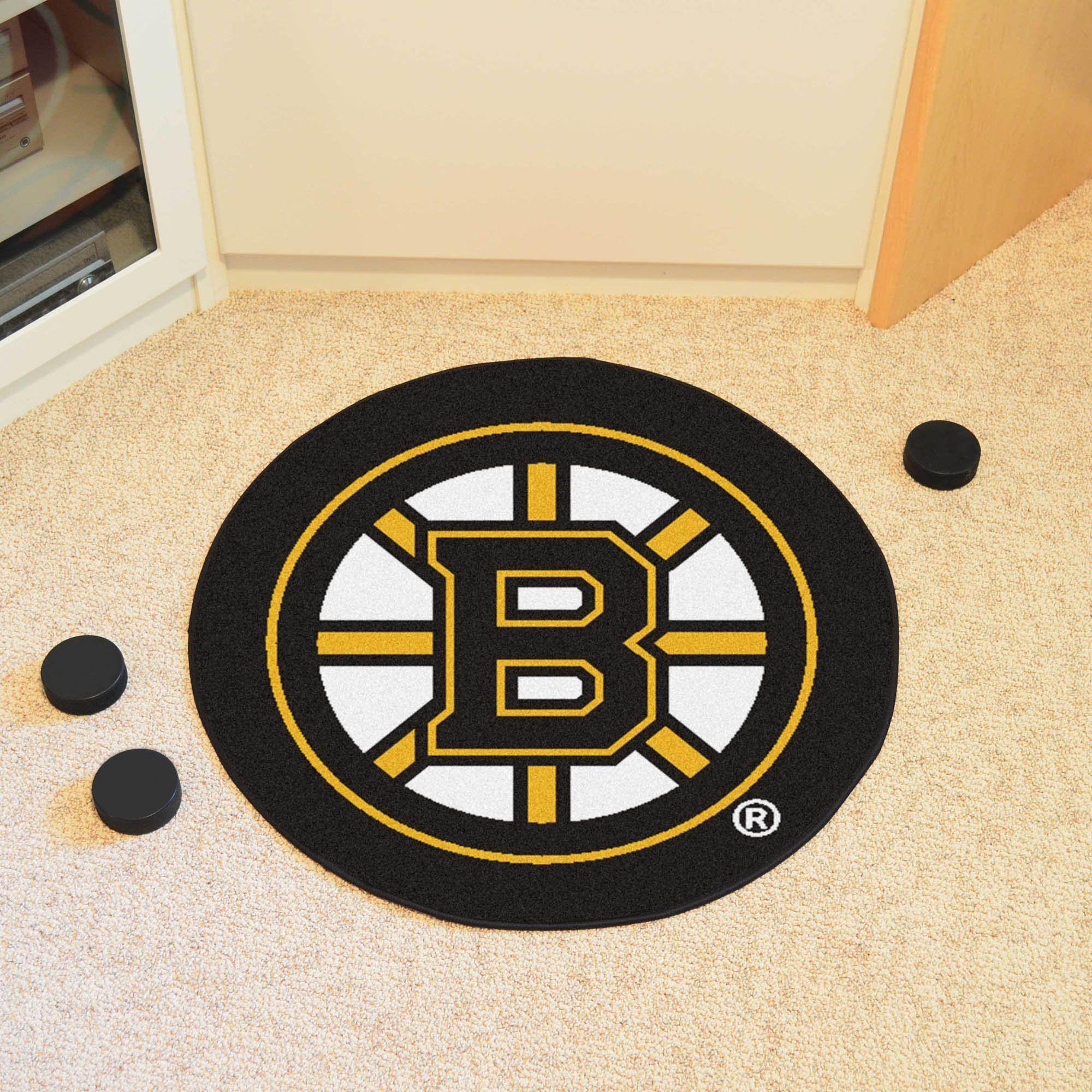 Boston Bruins Puck Mat