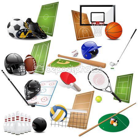 ícones do esporte — Ilustração de Stock #4823325