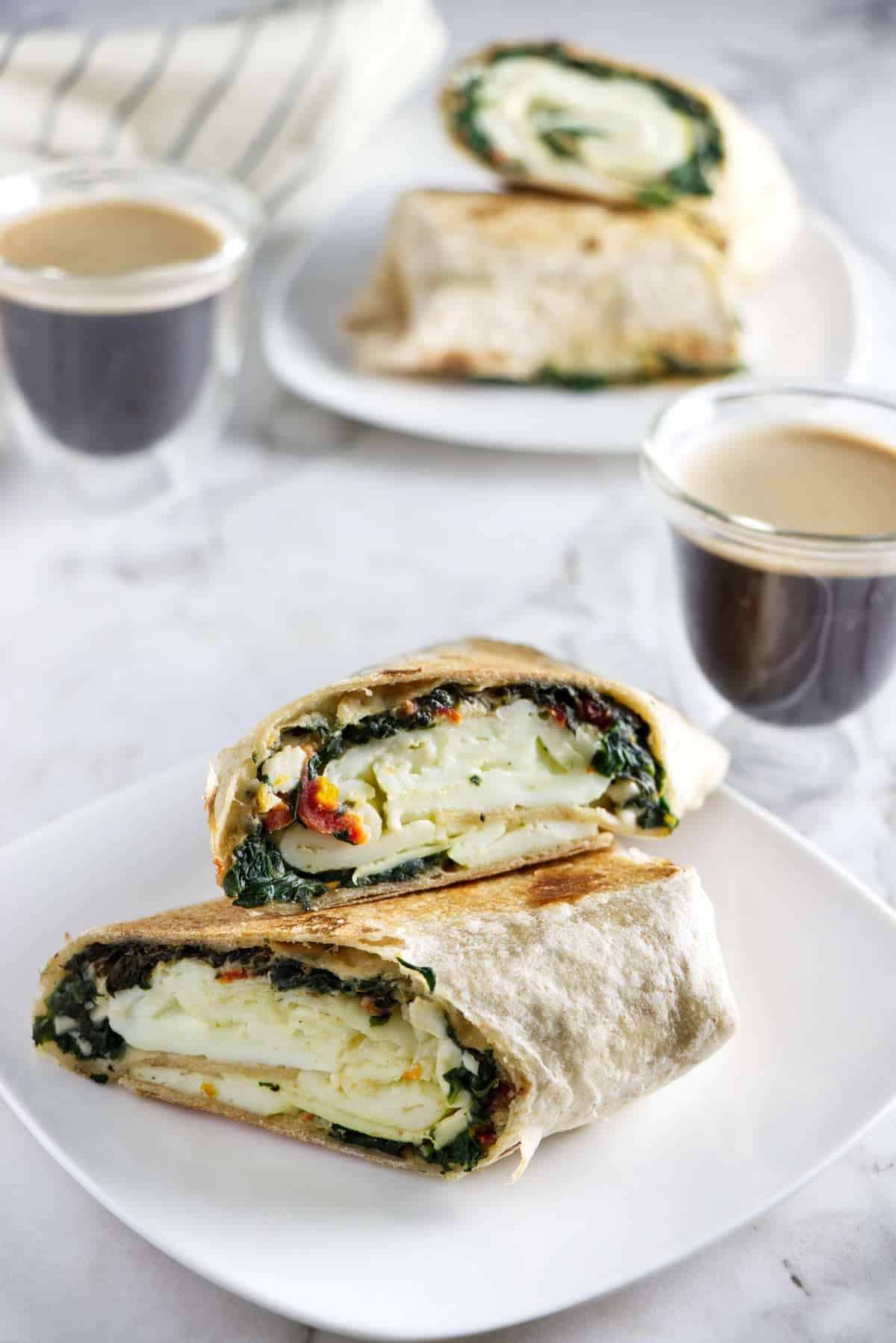Copycat Starbucks Spinach And Feta Breakfast Wraps Recipe With