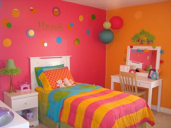 orange and pik room ideas | Found on roomzaar.com | Hot pink ...