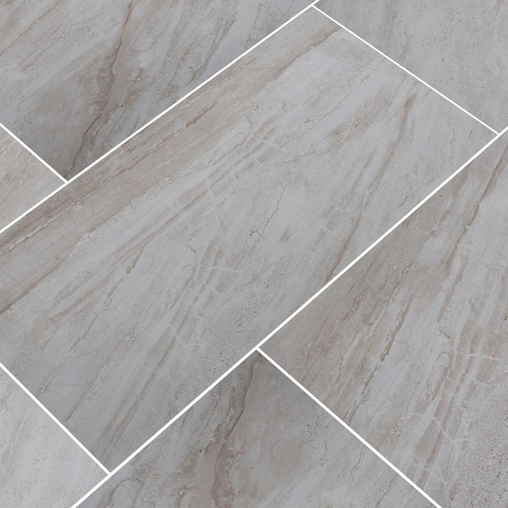 Msi Vigo Gris 12 In X 24 In Glazed Ceramic Floor And