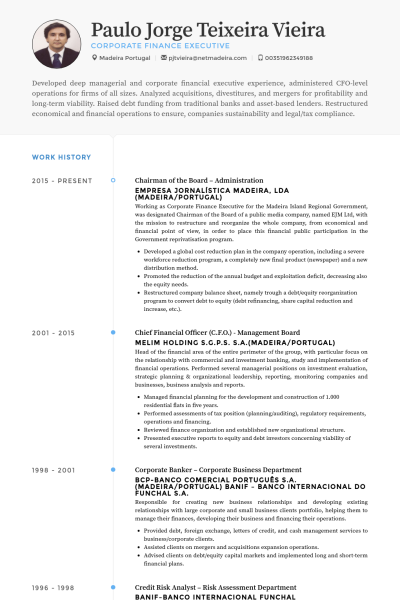 Chairman Of The Board Administration Resume Example Resume Sample Resume Resume Examples