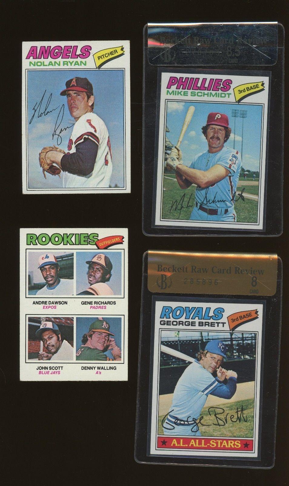 1977 topps baseball complete set 660 w ryan bench rice