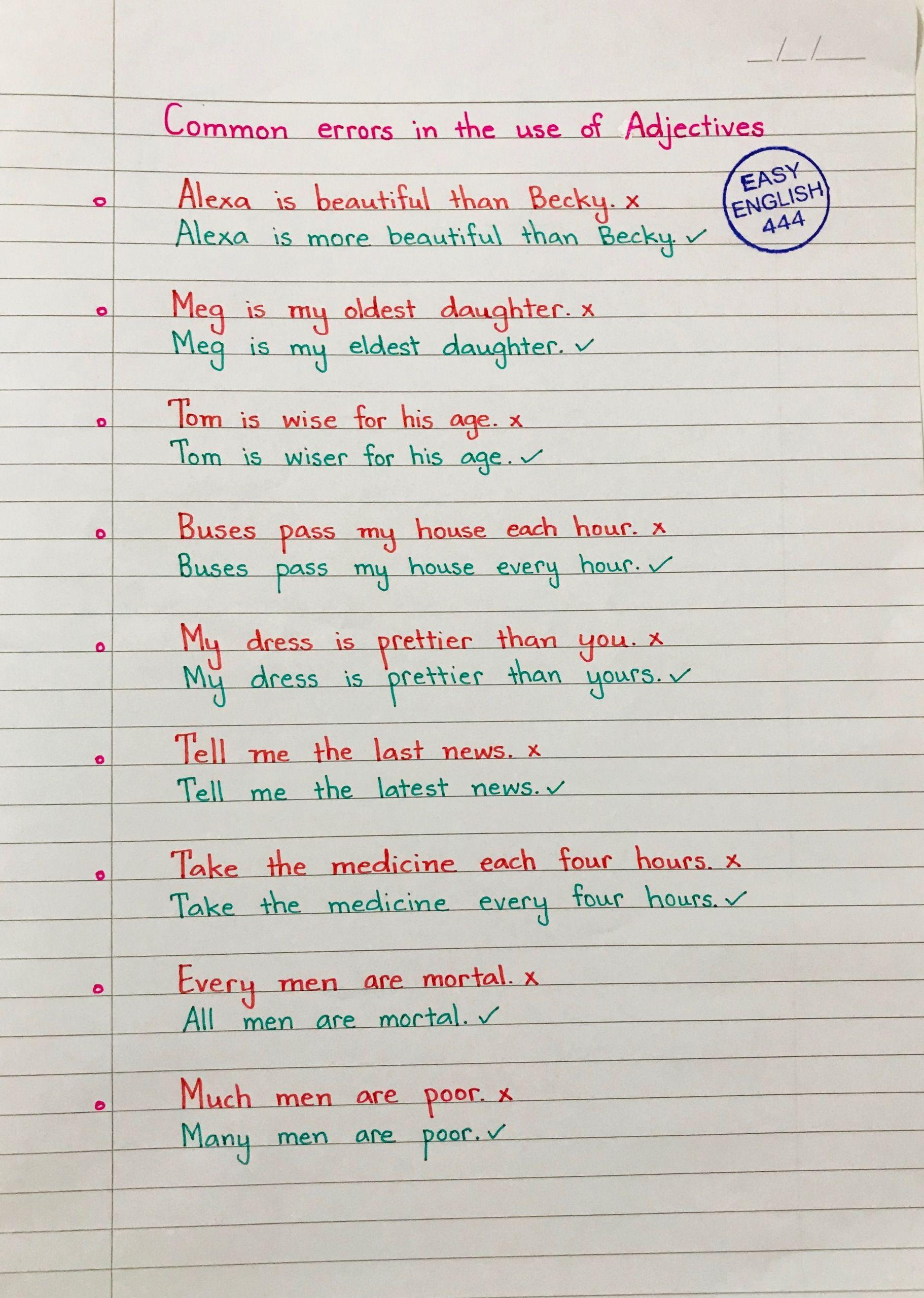 5 English Exercises For Beginners 2 English Language