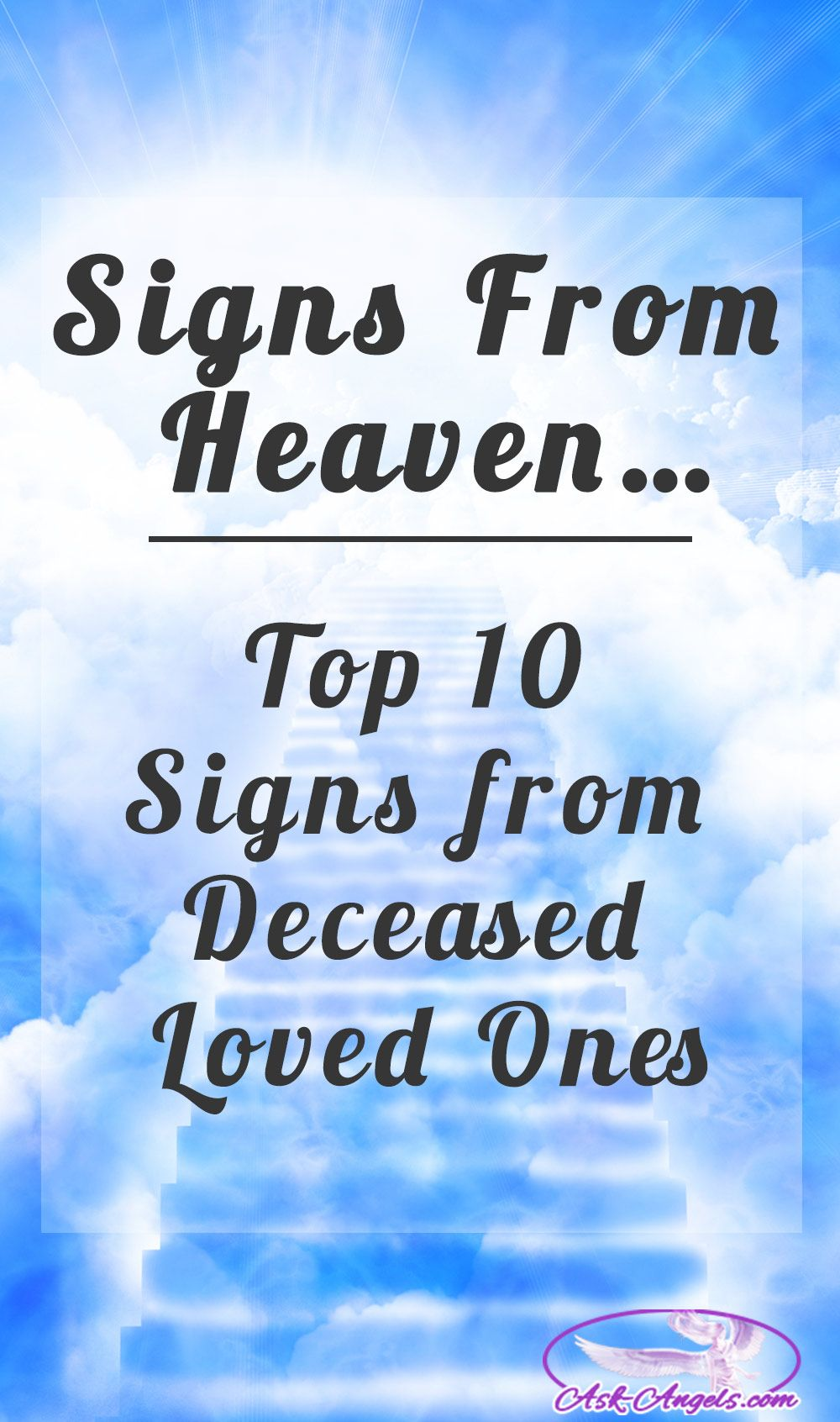 Quotes For Departed Loved Ones: Signs From Heaven… Top 9 Signs From Deceased Loved Ones