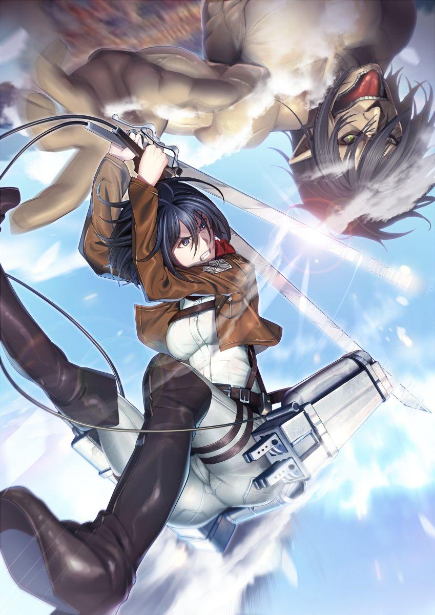 Mikasa Ackerman,Eren Yeager Shingeki no Kyojin / Attack