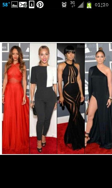 Divas of the music industry -Rhianna, Beyonce, Kelly Rowland and Jennifer Lopez