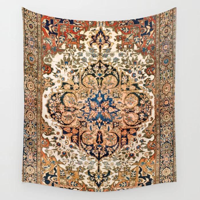 Tela Decorativa Ferahan Arak Antique West Persian Rug Print De Vickybragomitchell In 2020 Decor Home Decor Rugs