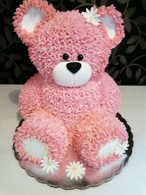 Teddy Bear Cake With Images Teddy Bear Cakes Teddy Cakes