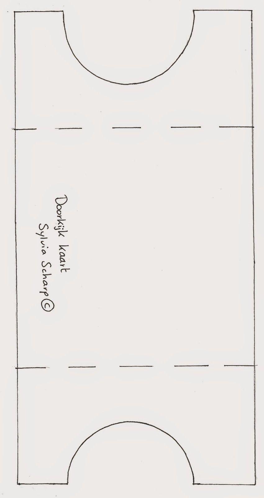 Шаблон для коляски на открытку, первая
