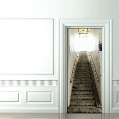 idée décoration originale : utiliser des stickers pour portes