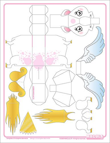 pegacorn template template papercraft and 3d paper