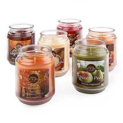 Living Colors Harvest Candle Jars Candle Jars Big Lots Fall Halloween Decor Living colors candles room spray